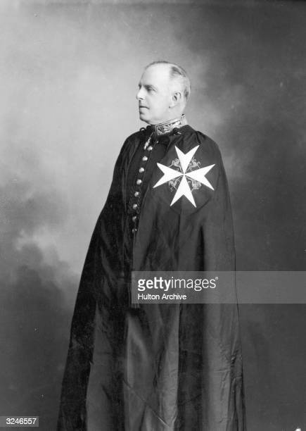 The 9th Earl of Shaftesbury Anthony Ashley Cooper on the robes of the order of St John