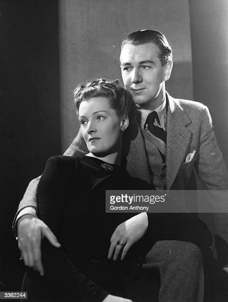 The English actor Michael Scudamore Redgrave with his wife the actress Rachel Kempson