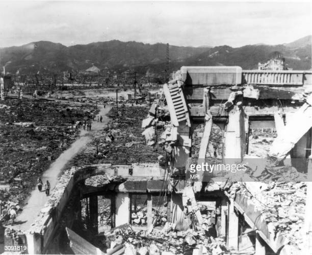 The ruins of Hiroshima after the bombing