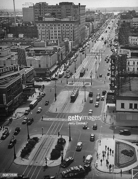 A view of Canal Street which is the largest in America