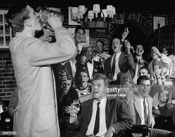 Princeton students drinking at Nassau Tavern.