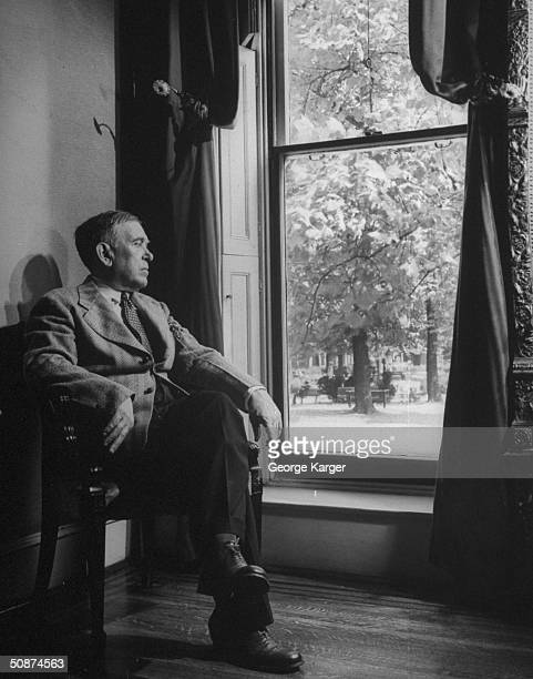 Writer Henry L. Mencken posing for a picture.