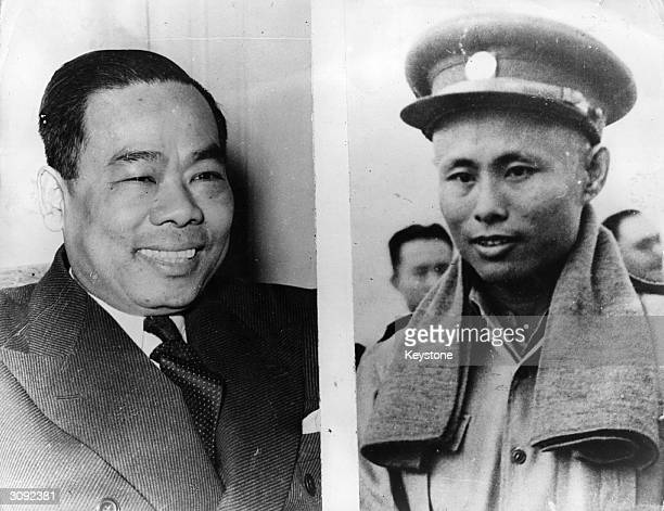 U Aung San right leader of the AntiFascist Peoples Freedom League and the real leader of the Burmese people and U Saw left the former president of...