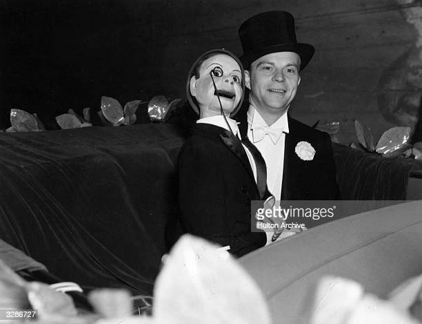 Edgar Bergen the mildmannered SwedishAmerican ventriloquist who 'worked ' with 'Charlie McCarthy' and 'Mortimer'