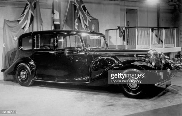 One of the Daimler StraightEights which is to be shipped to New Zealand for the Royal Tour