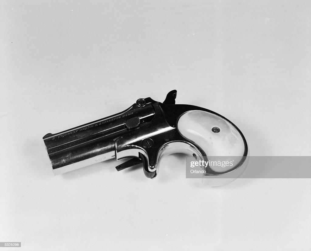 The American Remington double barrel derringer was used to kill