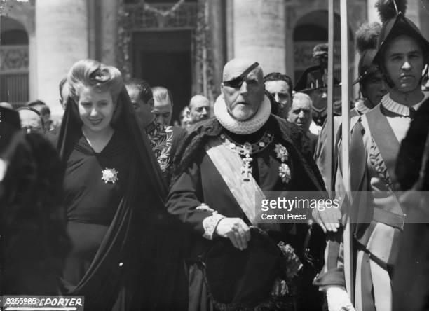 Eva Duarte De Peron wife of President Peron during a visit to the Vatican