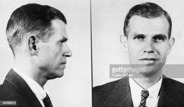 Two police photographs of former US State Department official and accused Communist spy Alger Hiss