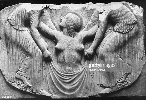 A bas relief of the birth of the Roman goddess Venus as she rises from the sea Original Publication From the Throne of Venus in the Museo delle Terme...