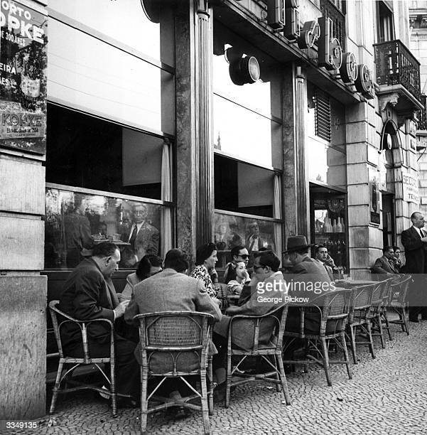 A cafe on the Avenida da Liberdade in Lisbon Portugal