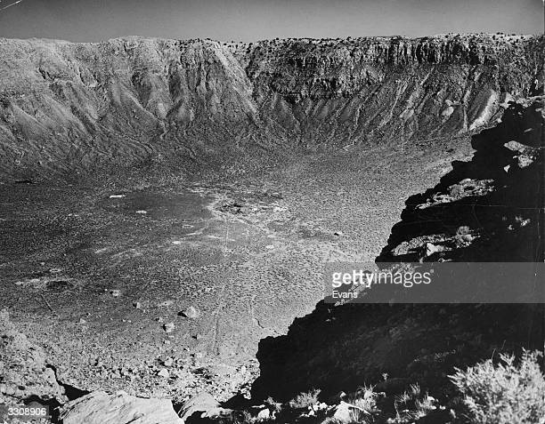 A huge meteor crater near Winslow Arizona