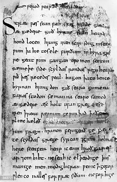 A manuscript of the epic AngloSaxon poem 'Beowulf' believed to date from the 10th century This the only surviving ancient copy of the story is kept...