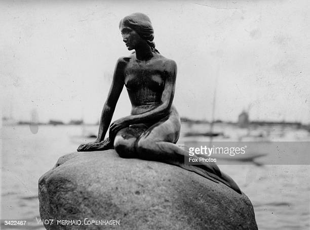 A statue in Copenhagen harbour based on Hans Christian Andersen's tale of the Little Mermaid