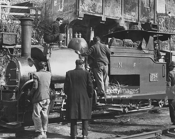 A steam locomotive on the narrow gauge mountain railway which runs between Darjeeling and Calcutta India
