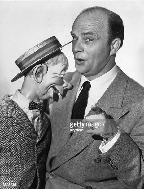 American ventriloquist Edgar Bergen with his new dummy 'Mortimer Snerd'