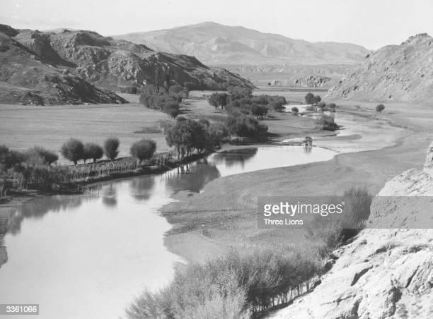 An idyllic scene in Kurdistan near the foothills of Mount Ararat on the Turkish Iranian border