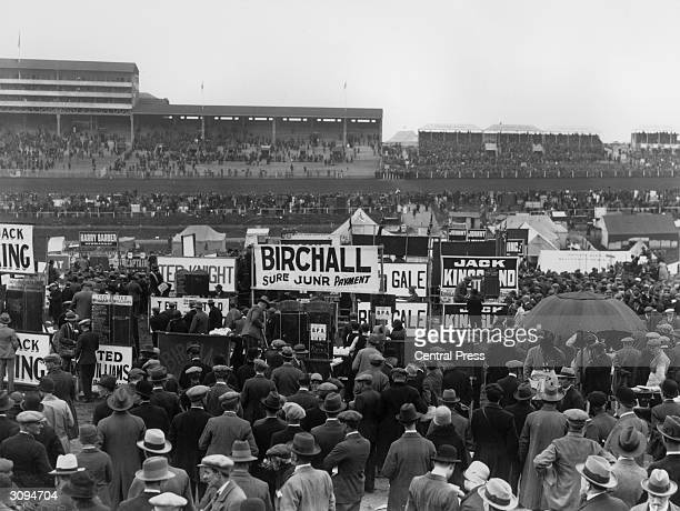 Crowds at Ascot racecourse.