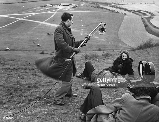 Jane Hylton and Donald Houston on location on Dunstable Downs for the making of the film 'Dance Hall' an Ealing studios production Title Dance Hall...
