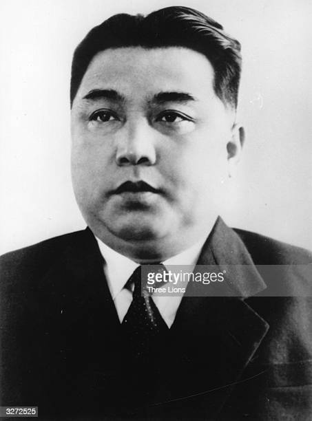 Kim Il Sung, Prime Minister of the Korean People's Democratic Republic and Secretary General of the Korean Workers Party.