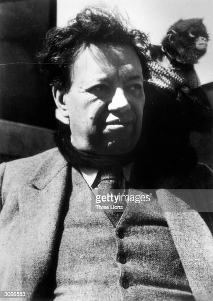 Painter Diego Rivera at his home in San Angel Famous for his murals depicting life and history of the Mexican people