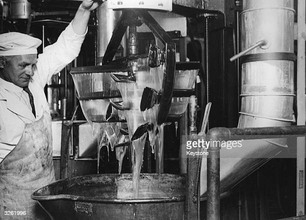 Part of the chocolate manufacturing process