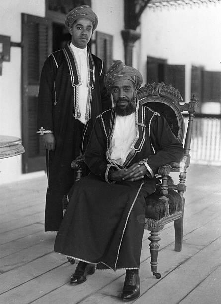 Seyyid Sir Kalim Bin Harub Sultan of Zanzibar with Prince Abdullah