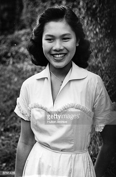 Sirikit Kitiyakara, future Queen of Thailand at the time of her engagement to King Phumiphon . PP - A King's Fiancee - 1950