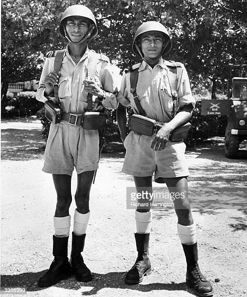 Soldiers guarding the governor's residence in Portuguese Timor