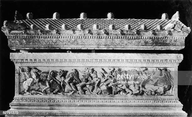 The Alexander Sarcophagus a 4th century BC stone sarcophagus discovered in Lebanon in 1887 It is thought to have contained the remains of King...