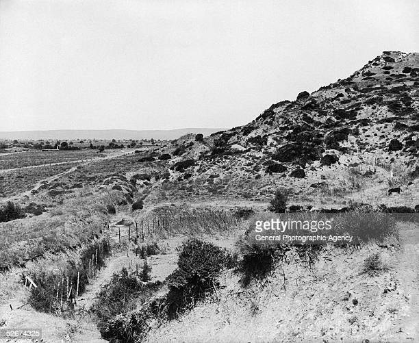 The Anzac Cove at Gallipoli, where soldiers of the 3rd Brigade of the Australian 1st Division landed on April 25th, 1915.