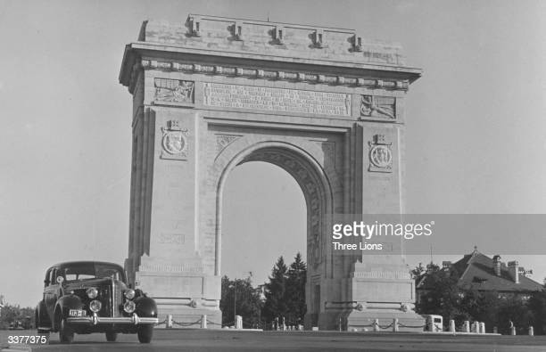 The Arch of Triumph in Bucharest Romania The arch commemorates the dead of the first World War