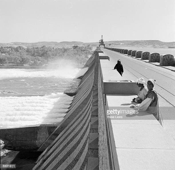 The Aswan Dam on the River Nile.