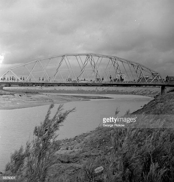 The Gateway Bridge between Brownsville, Texas and Matamoros, Mexico.