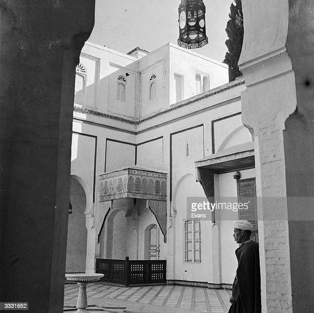The inner court of the Dar Beida mansion in Fez residence of the ResidentGeneral of Morocco