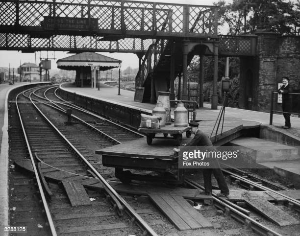 The swing bridge at Beccles railway station in Suffolk