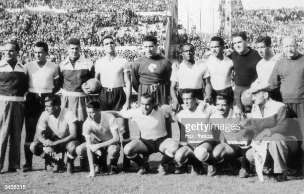 The Uruguayan football team Roque Gaston Maspoli Matias Gonzalez William Martinez Victor Rodriguez Andrade Nestor Carballo Luis A Cruz Julio Cesar...