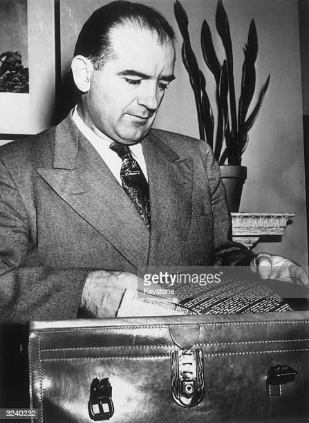 Senator Joseph McCarthy , notorious for his crusade against communism in the early 1950s.