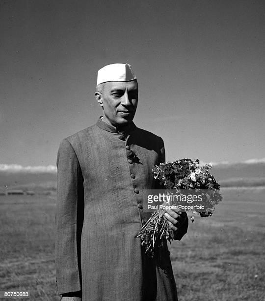 Circa 1950's, Indian Prime Minister Jawaharlal Nehru