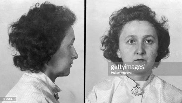 Mugshots of American spy Ethel Rosenberg convicted in 1951 with her husband Julius for spying and passing US atomic secrets to the Soviets