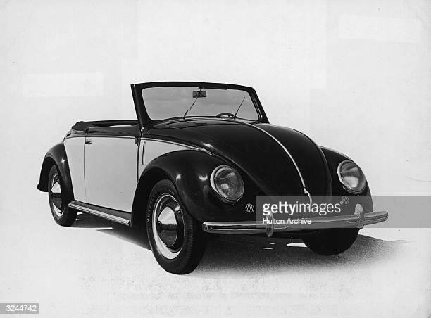 Promotional studio image of a Volkswagen Beetle Sedan convertible automobile