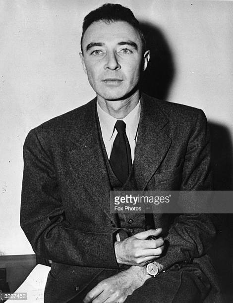 American nuclear physicist Dr Julius Robert Oppenheimer who worked on America's atom bomb project during the 1940's