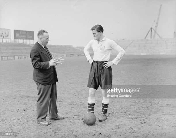 Fulham Football Club player Jimmy Hill with Bill Dodgin