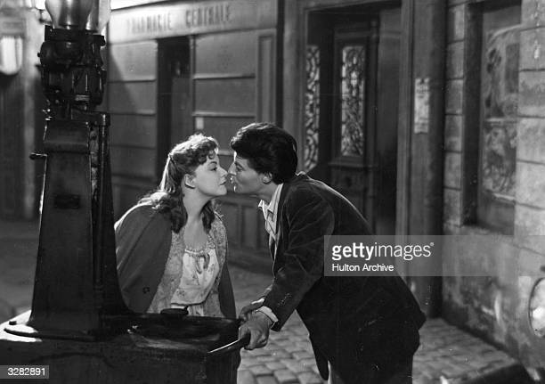 Magali Vendeuil is with Gerard Philipe the French actor in a scene from the film 'Les Belles De Nuit' about a discontented teacher who dreams of...