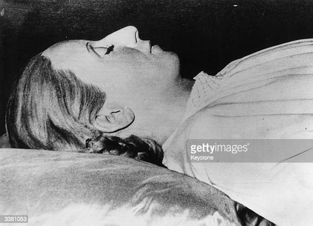 The embalmed body of Argentinian politician Eva Peron