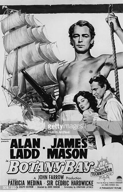 The poster for the film 'Botany Bay' directed by John Farrow and starring Alan Ladd James Mason and Patricia Medina