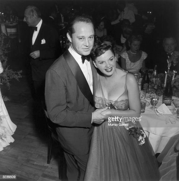 EXCLUSIVE American actress Judy Garland and her husband producer Sid Luft at a party held at Romanoff's restaurant following the opening of her show...