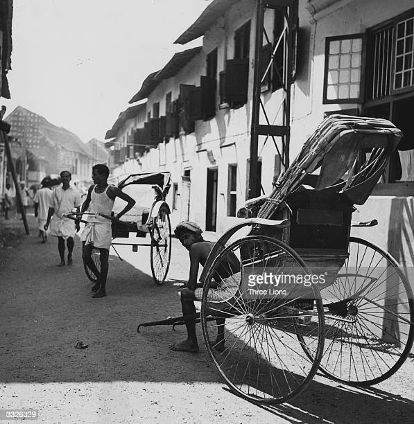 Rickshaw drivers in Cochin on the Malabar Coast in India's southwestern state of Kerala The architecture is influenced by the Portuguese who settled...