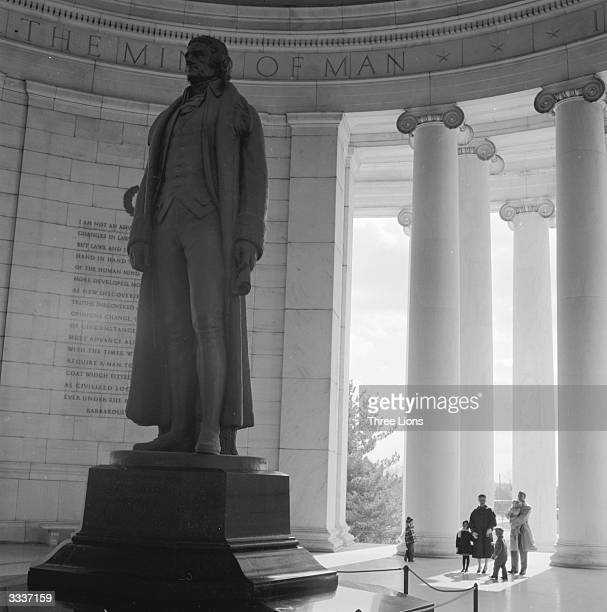 A family visiting the Jefferson Memorial in Washington DC American statesman Thomas Jefferson was the 3rd President of the United States of America...