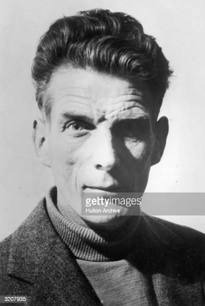 A headshot of playwright Samuel Beckett