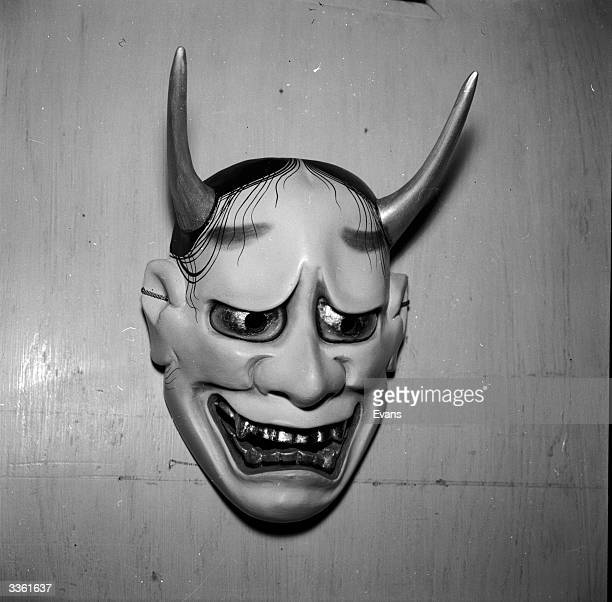 A mask representing 'Haunya' which is used in Japanese Noh plays which are operatic performances consisting of music dancing and recitation
